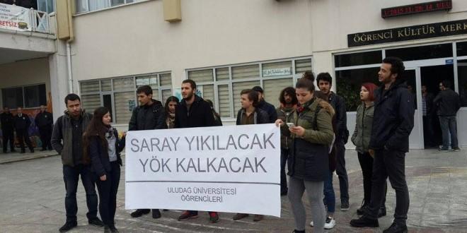 Uludağ Üniversitesi'nde 6 Kasım protestosu
