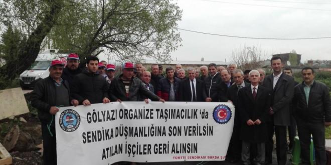 CHP Bursa'dan direnişteki TÜMTİS'lilere destek