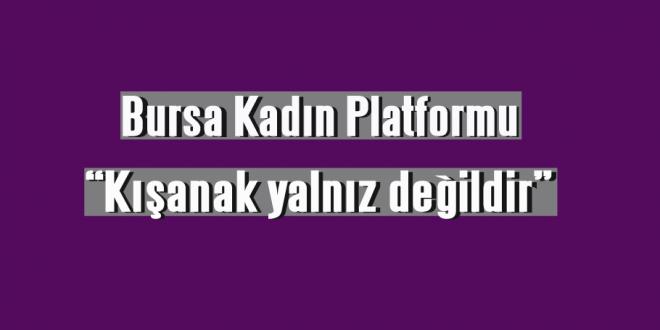 """Bursa Kadın Platformu, """"Kışanak yalnız değildir"""""""