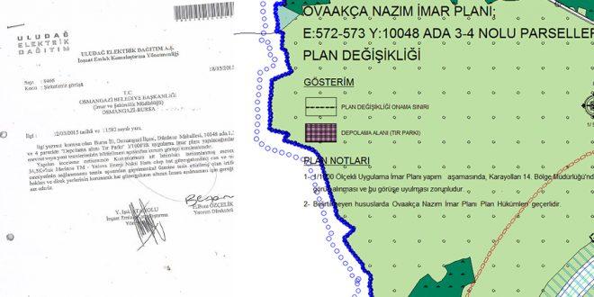 Karayolları ve UEDAŞ'ın raporuna rağmen heyelan riskli bölgeye TIR otoparkı