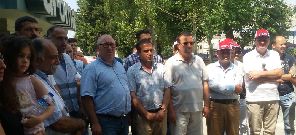 Bursa KESK'ten Aroma grevine destek ziyareti