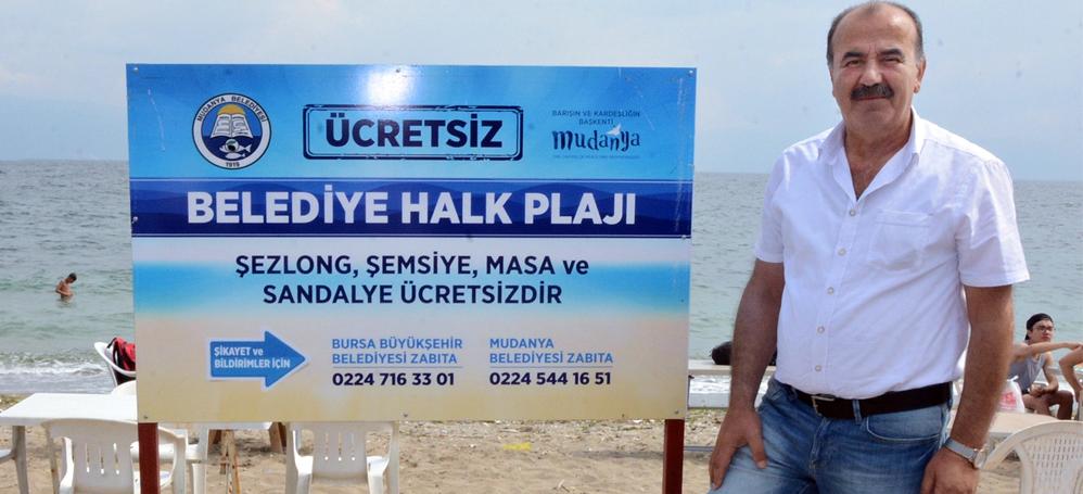"""Hayri Türkyılmaz """"Plaja para ödemeyin!"""""""