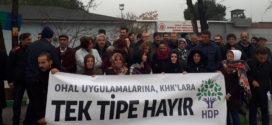 Bursa'daki HDP tutukluları tek tipe karşı eylem başlattı