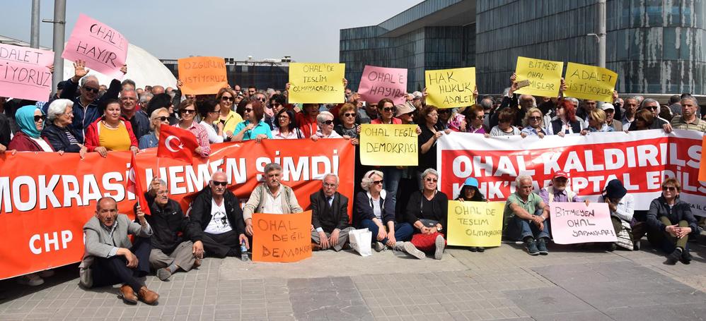 Bursa CHP'den OHAL'e karşı kitlesel eylem