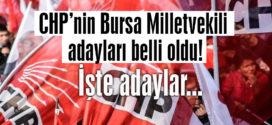 CHP'nin 24 Haziran için Bursa adayları belli oldu!